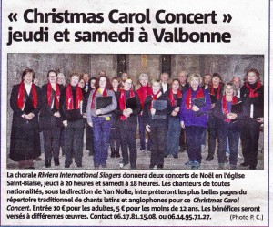 Nice Matin Antibes Edition Dec 2015